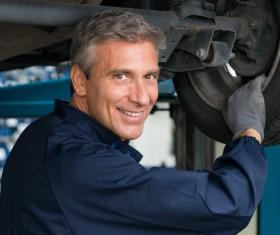 Repair car tires maintenance workers Stock Photo 02