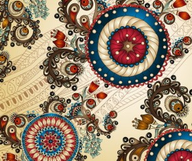Retro decorative background art vector