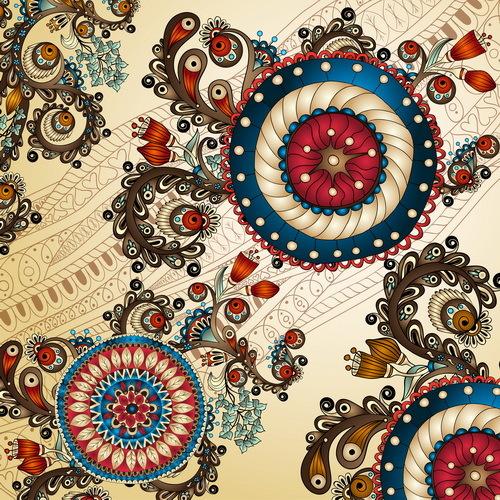 Retro decorative background art vector