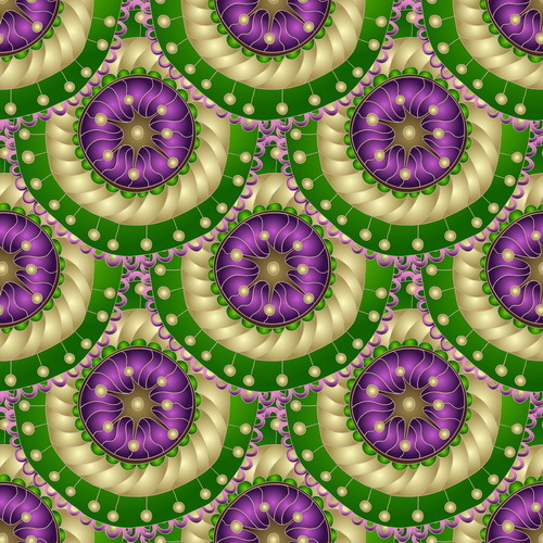 Retro floral decorative pattern seamless vector 02
