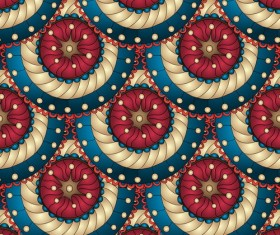 Retro floral decorative pattern seamless vector 03