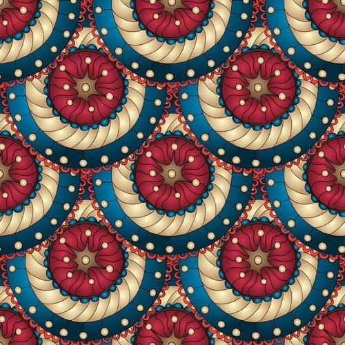 Retro floral decorative pattern seamless vector 03