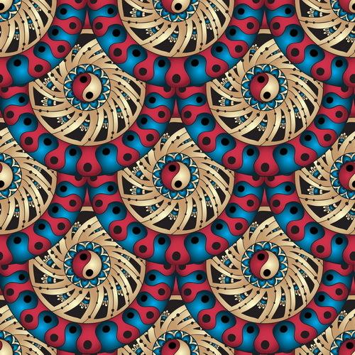 Retro floral decorative pattern seamless vector 05