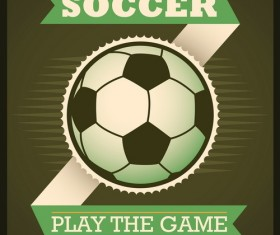 Retro soccer poster template vector 01