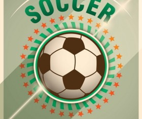 Retro soccer poster template vector 02