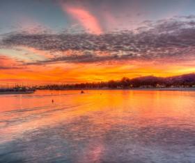 Reverie beautiful sunset Stock Photo