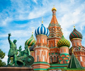 Russia St. Vasily Cathedral Stock Photo 01