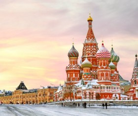 Russia St. Vasily Cathedral Stock Photo 02