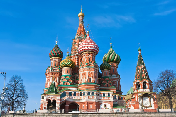 Russia St. Vasily Cathedral Stock Photo 03
