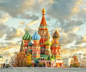 Russia St. Vasily Cathedral Stock Photo 04