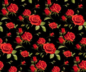 Seamless rose pattern vector material 04