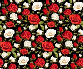 Seamless rose pattern vector material 06