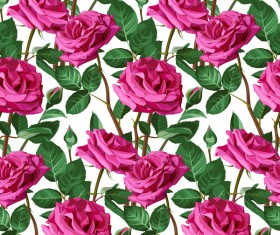 Seamless rose pattern vector material 07