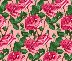 Seamless rose pattern vector material 08