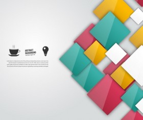 Shiny colored square background vector 01