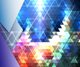 Shiny triangle abstract background vector