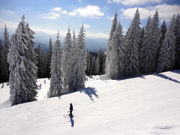 Ski Area Beautiful scenery Stock Photo