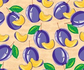 Sliva pattern seamless vector 01