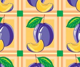 Sliva pattern seamless vector 02