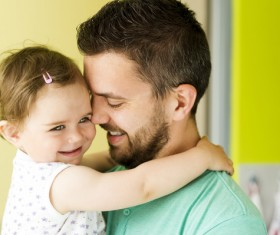Smiling father and daughter Stock Photo 02