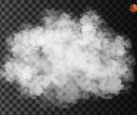 Smoke effect transparent illustration vector 01