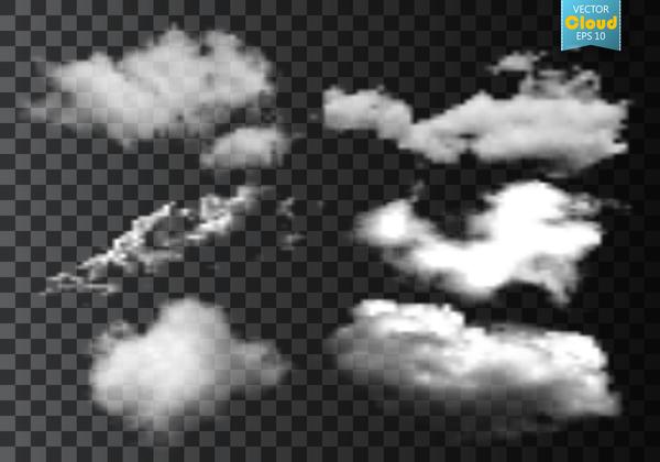 Smoke effect transparent illustration vector 02