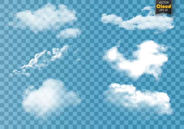 Smoke effect transparent illustration vector 03