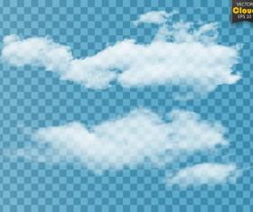 Smoke effect transparent illustration vector 04