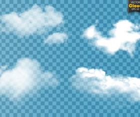 Smoke effect transparent illustration vector 05