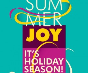 Summer holiday poster vintage template vector