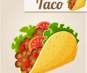 Taco fast food vector