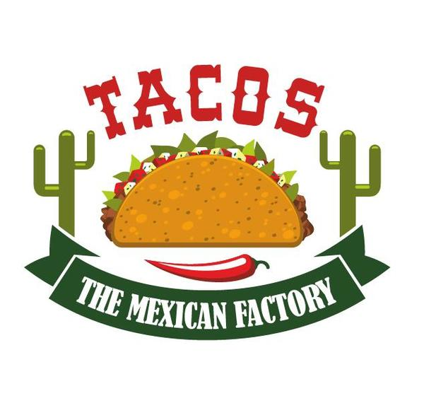 Tacos label vector material