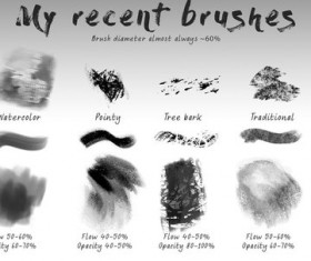 Texture Photoshop Brushes set