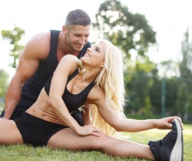 Together exercise lover Stock Photo 01