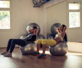 Together exercise lover Stock Photo 03