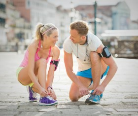 Together exercise lover Stock Photo 04
