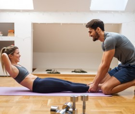 Together exercise lover Stock Photo 05