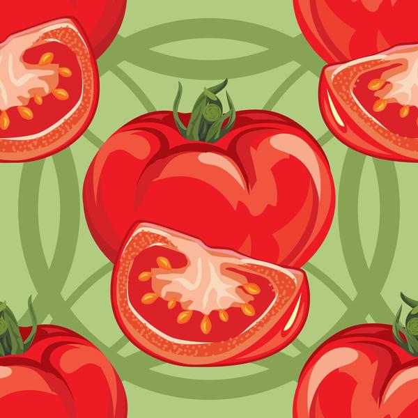 Tomato pattern seamless vectors