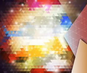 Triangle blurs background with abstract elements vector 01