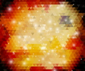 Triangle blurs background with abstract elements vector 02