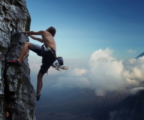 Unarmed mountaineering Stock Photo 01