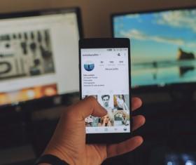 Use smartphone Stock Photo