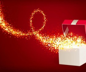 Valentine gift boxs with red background vector 08