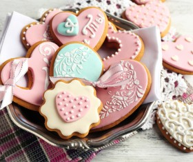 Various shapes of cookies Stock Photo