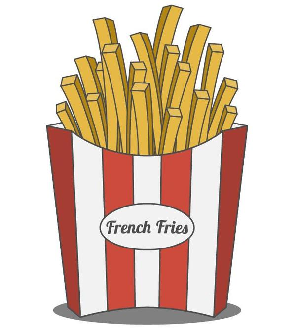 Vector french fries illustration material 01