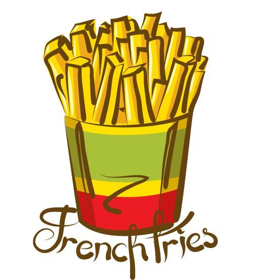 Vector french fries illustration material 02