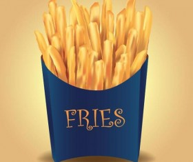 Vector french fries illustration material 05