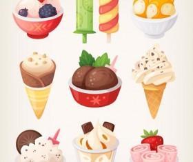 Vector ice cream design material 03