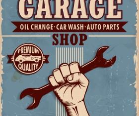 Vintage Garrage poster design vector