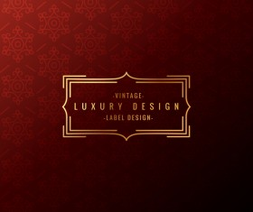 Vintage decor background with luxury label vector